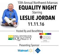 Emmy Award Winner Leslie Jordan to Headline Local Event Supporting LGBTQ Programs in Northwest Arkansas
